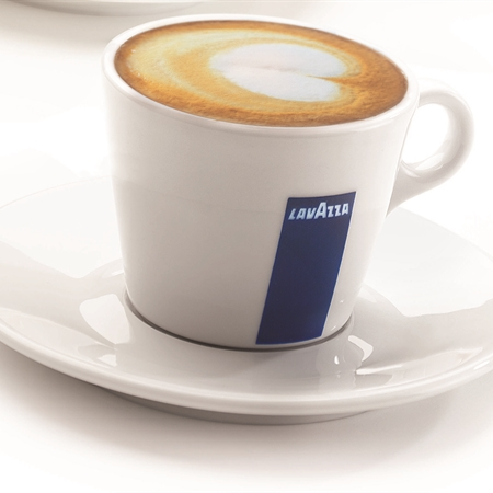 Lavazza Coffee Beans with lavazza Point of Sale Crockery