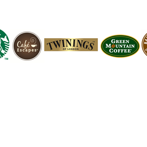 Keurig Brands Stabucks, Green Mountain, Twinings, Cafe Escapes & Barista Prima