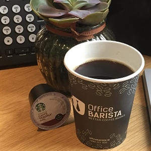 Office Barista Disposable Paper Cup and Keurig Starbucks Cafe Verona K Cups